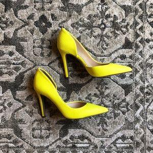 Jessica Simpson yellow pumps